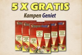 5 x GRATIS KAMPEN GENIET